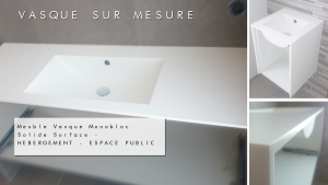 MEUBLE-VASQUE SOLID SURFACE